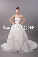 New 2014 custom made wedding dress ball gown wedding dresses modest wedding dresses