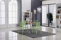 2014 new modern tempered glass chrome dining table cheap popular bar furniture
