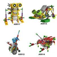 Electric Robot Puzzle Assembly Bricks DIY Toy LOZ block mechanical robot Children's toy kids gift children DIY 2 pcs/lot