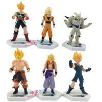 """Dragon Ball action figures Goku / Vegeta / Gohan 6pcs/set PVC 5"""" Dragon Ball Kai for boys toys free shipping"""