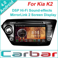 2014 Android 4.0 OS Car DVD GPS Player for Kia K2 Dual Core 1GHZ CPU 512MB DDR3 3G Wifi DVR 1080P Russian Menu