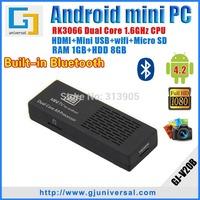 {10pcs/lot} Original MK808B Android Mini pc with Bluetooth Dual core RK3066 RAM 1GB ROM 8GB Android TV Box Wifi