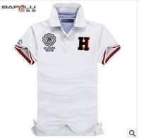 high-quality New 2014 summer men brand  Fashion Ty 100% cotton three-dimensional embroidery t shirt sport t shirts