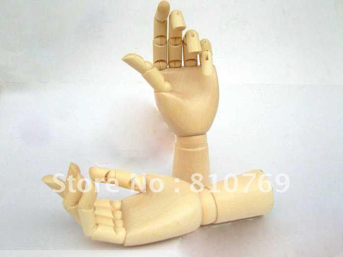 2012 Nachschub 100% brandneue mode holz spielzeug der Gelenke bewegliche versandkostenfrei holz hand kid`s pädagogische guten preis 18cm