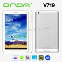 Free shipping 7 inch Onda V719 3G WCDMA phone call android tablet MTK8312 Dual core 512MB RAM 8GB ROM Bluetooth GPS