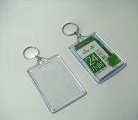 "12pcs Bigger Blank Acrylic Rectangle Photo Keychains Insert  Picture &Logo  Keyrings Key tag 2.25""x 1.65"" - Free Shipping"