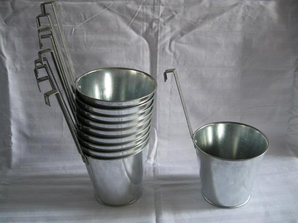 Vintage Metal Planter Flower Pot Hook Hanging Flower Pots