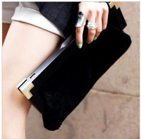 luxury new women bags 2014 clutch purse Europe style horse hair genuine leather clutch bag evening bag