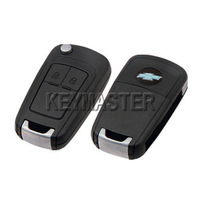 k555 Remodel Remote Case Uncut Blank Flip Folding Car Key Shell For Chevrolet CRUZE