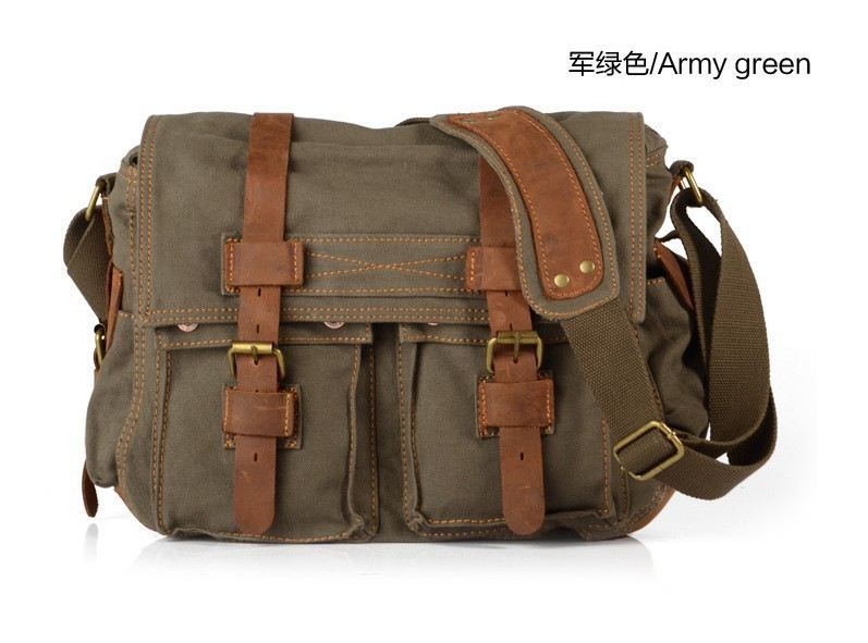 Vintage Tote Military Shoulder Messenger Canvas Bags 77