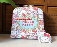 Hello Kitty Coin Purse Mini Purse  High Quality PU leather AA3532(about 9cm x 8cm x 3.5cm) 3pcs/lot