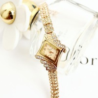 King girl quartz watch fashion women rhinestone bracelet watch rhombus diamond female popular free shipping