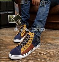2014 summer new boys canvas shoes tide shoes men shoes lace spell color shoes British Korean men