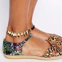 Celeb Leaf Drop Charm ANKLETS CHAIN Link Bracelet FOOT Leg Beach Sandal JEWELRY
