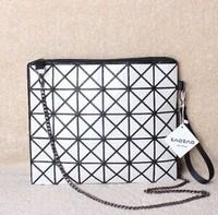 Issey MIYAKE bag baobao handbag chain messenger bag folding bag geometry plaid bag fashion women's handbag