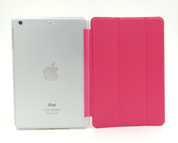 50pcs/Lot 9 color For iPad 4/3/2 Smart Cover PU Leather Magnetic Smart Cover case + Frosted Hard Back Case For iPad 3/4