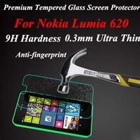 Brand New For Nokia Lumia 620 premium tempered glass screen protector,for Nokia 620 glass screen film guard with package