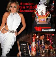 Free shipping Bodycon dress white bandage sexy night dress