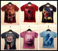 New Summer cotton Factory SALE!! women/men leopard/lion skull/animal Funny 3D T shirt tee tiger/cat/dog/wolf 3d top tee