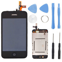 OEM Full Assembly Front Glass Touch Screen LCD Digitizer + Tools for iPhone 3GS Black