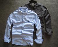 All saints jemmied bakham male 100% Oxford silk cloth cotton long-sleeve shirt slim thick
