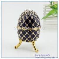 Dark Purple Egg-shaped Porcelain Jewelry Box custom jewelry box