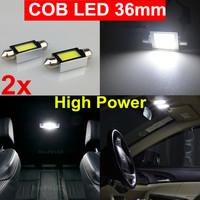 2x 6000K White High Power Festoon 36mm COB Led SMD Car Dome Map Interior Light Bulbs 6418 3423 3425 6411 6423 C5W Lamp