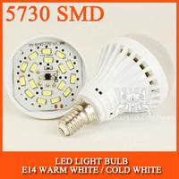 LED bulb lamp bulbs led lights E14 5730SMD 3W 5W 7W 9W Cold white/warm white AC220V 230V 240V