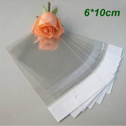 Small 6*10cm Clear Self Adhesive Seal Plastic Bag OPP Poly Bag Retail Packaging Bag W/ Hang Hole Wholesale 500Pcs/Lot(China (Mainland))