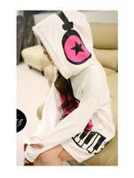Hot sale! 2014 new fashion women  Stylish Loose Piano Print Musical Note Coat  long  Autumn  hoodie  large size  #C0810