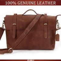 Classic Vintage Genuine Leather Men's Briefcases Laptop Bag Men Messenger Bag Men Handbag Hot Selling