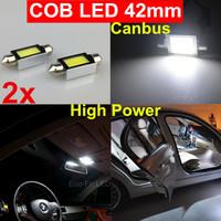 2x 6W High Power Canbus Festoon 42mm COB Led SMD Dome Map Interior license plate Light 211 212-2 6413 Festoon Bulbs 6000K White