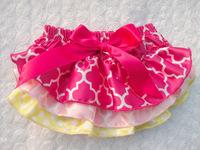New Cute Baby 3Layers Skirts Satin Bloomers Little Girls Ruffles Shorts with Ribbon Bow Kids Cotton Underwear 3Size 6Pcs/Lot