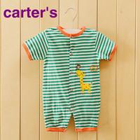 newborn 2014 carters original 100% cotton baby rompers, bebe baby girl boy romper short sleeve carter clothes