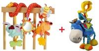 1set=ELC+Playgro Baby Toy,Multifunctional Animals Around/Lathe Bed Hang+Donkey Bed Lathe Hanging Rattles Baby Toy V001