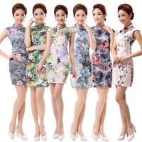 Cheongsam Women chinese style top summer vintage women's design short cheongsam fashion female FREE SHIPPING