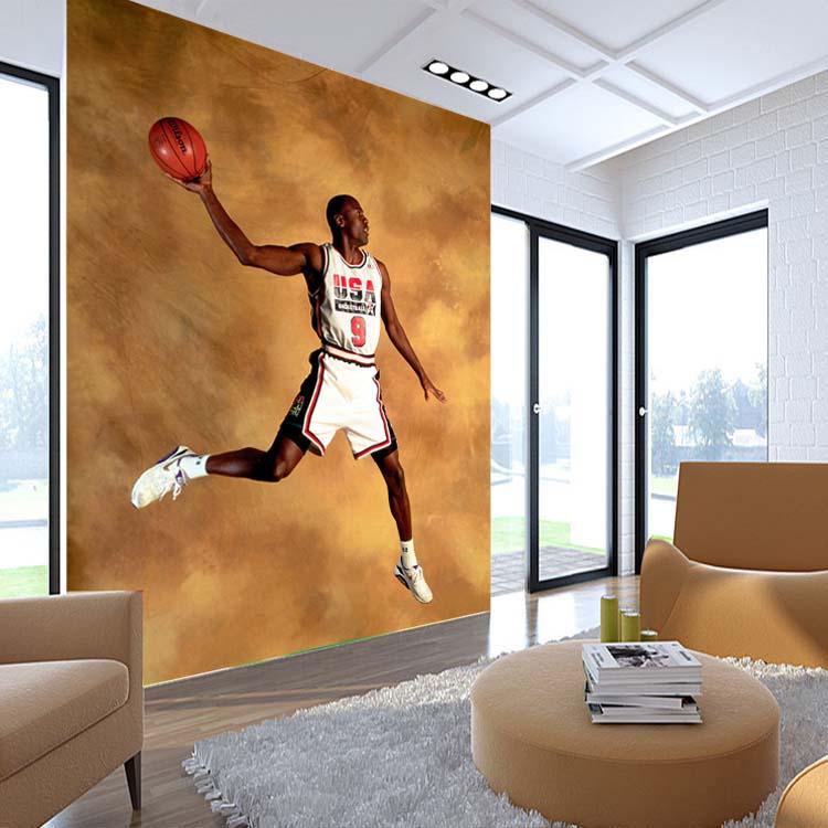 Achetez en gros basket muraux papier peint en ligne des for Basketball mural wallpaper