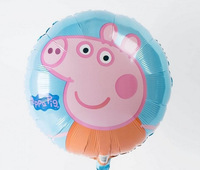 New arrive 10pcs/lots wholesales Peppa Pig foil balloon Birthday party decoration cartoon balloons Hot sale Free shipping