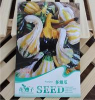 Free Shipping 1 Packs 8 seeds of Shark Fin Shape Melon Seeds Pumpkin Cucurbita