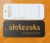 Garment label /customize hangtag /garment swing tickets / shose label / bag label  1000pcs /lot
