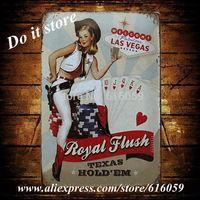 [ Do it ] Las Vegas Metal Shop Store Vintage Plaque 20*30 CM B-135