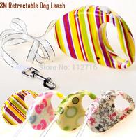 Free Shipping Dog Leash Pet Auto Leash Retractable Luxury Design 3M Long Four Color