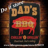 [ Do it ]  Chilling Grilling BBQ Metal Poster  Wholesale Vintage Bar Metal Decor Home Shop 20*30 CM B-133