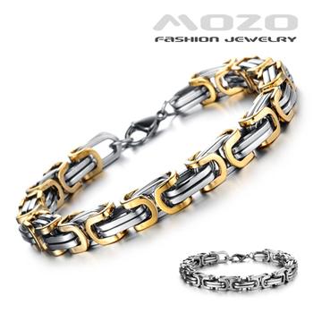 2015  Brand Fashion Jewelry Men's 316 Titanium Steel Gold Plated Bracelets ...