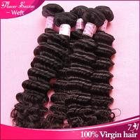 Unprocessed malaysian hair bundles 2pcs/lot 100g per bundle deep wave virgin hair accept paypal free shipping