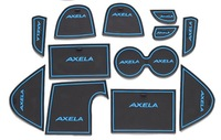 Free Shipping High quality Silica gel Gate slot pad,Teacup pad,Non-slip pad(12 pcs) For 2014 Mazda 3/AXELA