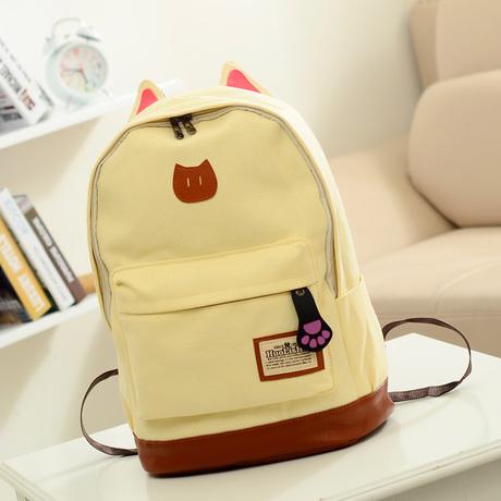 Рюкзак женский элегантное стиль котенок холщовый рюкзак ...