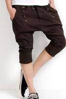 2014 Fashion New Harem Pants Men Sweatpants Loose Sprots Cropped Causal drop crotch pants men academia baggy calca masculina