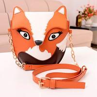 New Arrival Cartoon Vintage Bag Owl women's Small Bag Mini Messenger Bag Lovely Fox Printing Women Clutch Hot Selling Women Bag