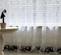 White Rose flower window screening Fabric/Finished Curtain  balcony fashion tulle curtains